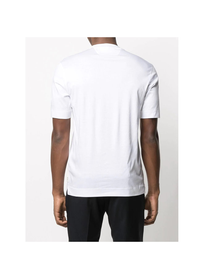 Z Zegna Crew Neck T-shirt in Cotton in White