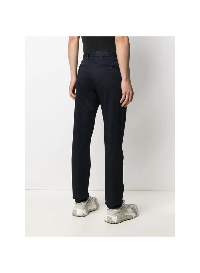 Z Zegna Straight Leg Pants in Cotton Stretch in Navy