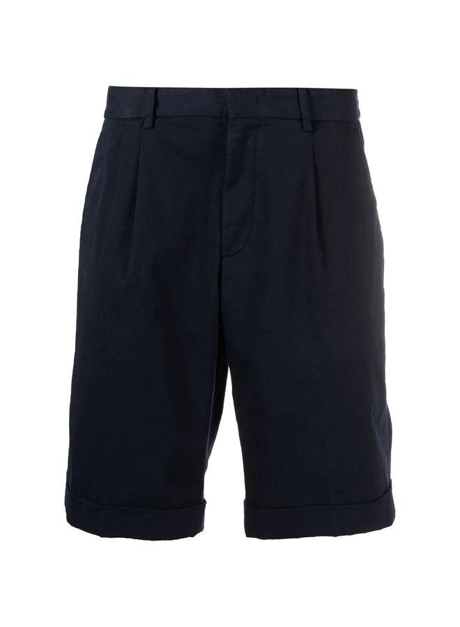 Z Zegna Bermuda Shorts in Stretch Cotton in Navy