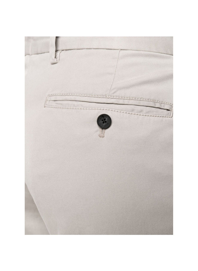 Z Zegna Straight Leg Pants in Cotton in Light Grey
