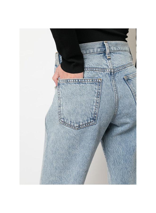 Straight Leg Jeans in Denim in Light Blue