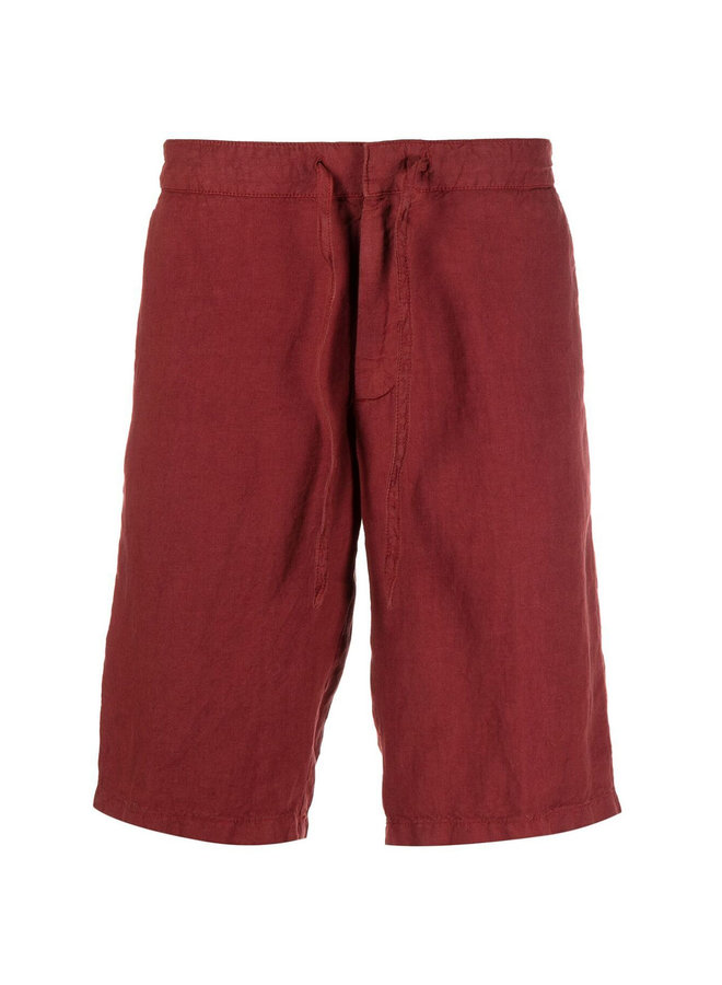 Z Zegna Bermuda Shorts in Linen in Rusty Red