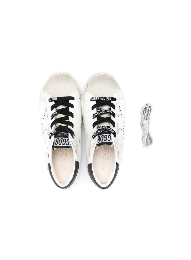 Superstar Low Top  Kids Sneakers in Leather in White