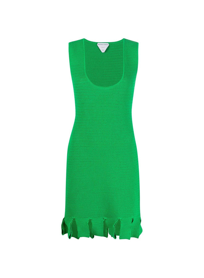 Mini Dress with Fringed Hem