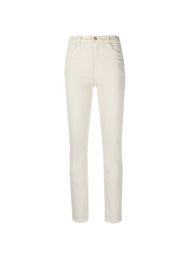 High Waisted Skinny Jeans in Beige