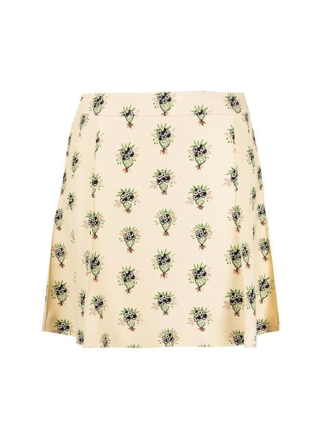A-Line Mini Printed Skirt