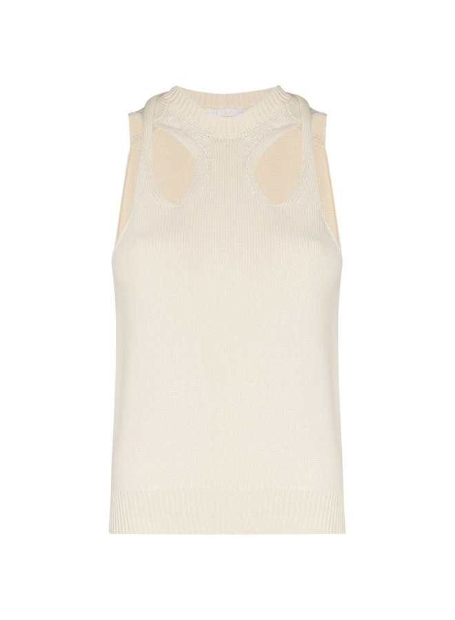 Cut-Out Knitted Tank Top