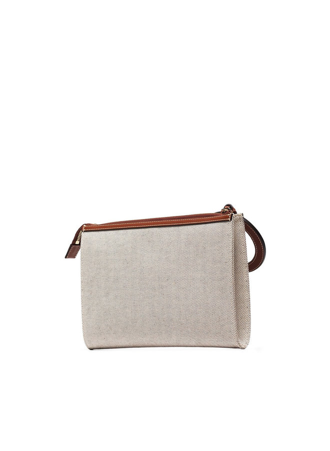 Hope Pouch in Cotton in Sepia Brown