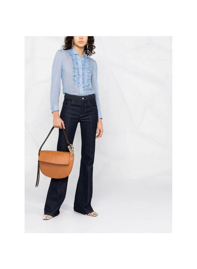 Kiss Shoulder Bag in Leather in Arizona Brown