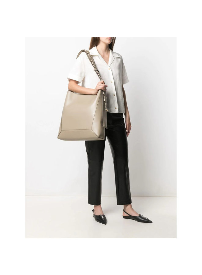 Large Hobo Bag with Braided Strap in Bamboo