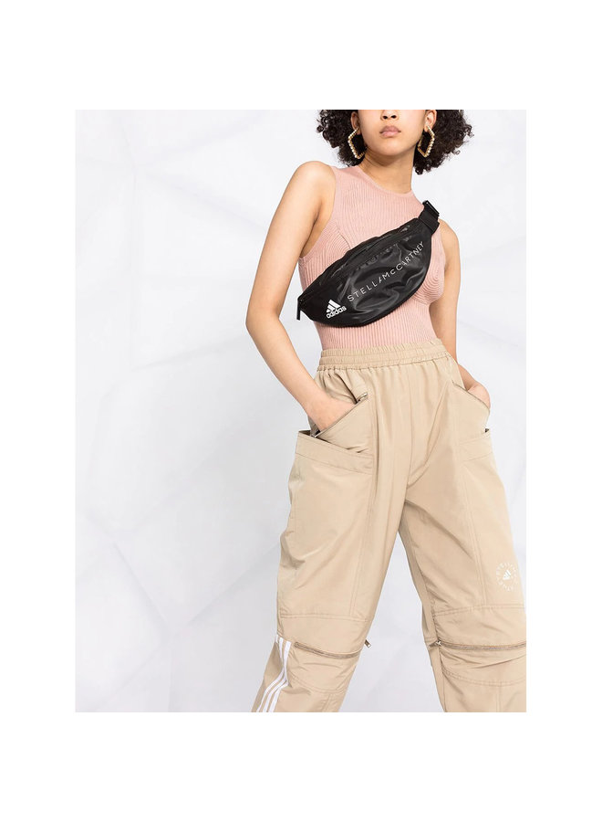 High Waisted Pants In Cotton/Polyamide In Bamboo-Camel
