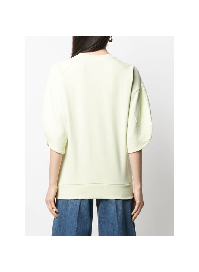 Logo Sweatshirt in Organic Cotton in Lemonade