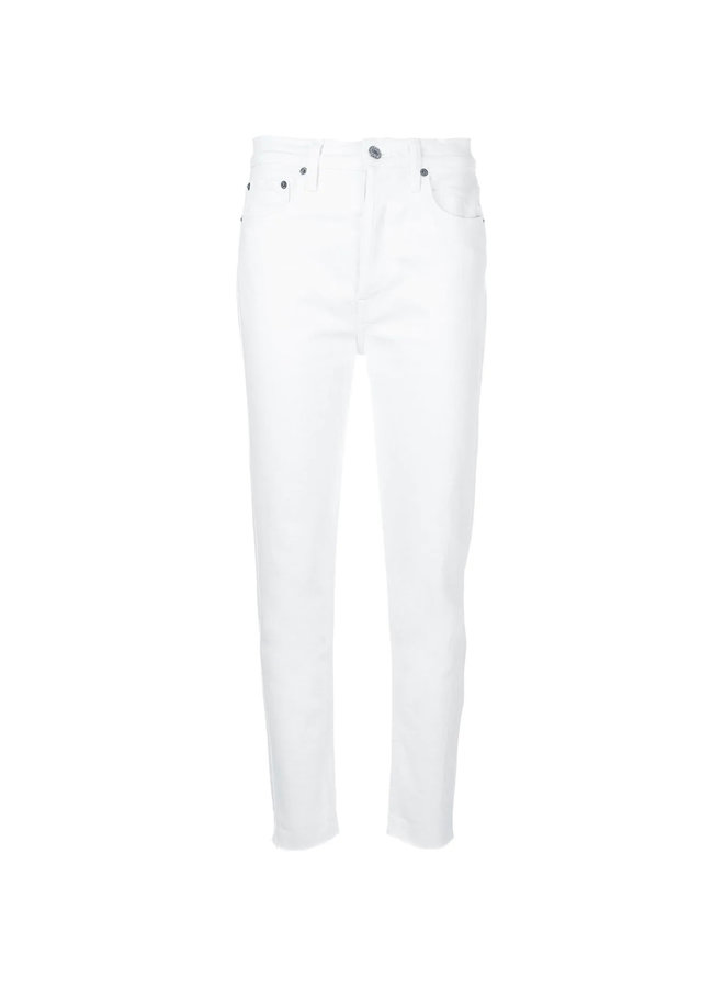 High Waisted Skinny Jeans in White