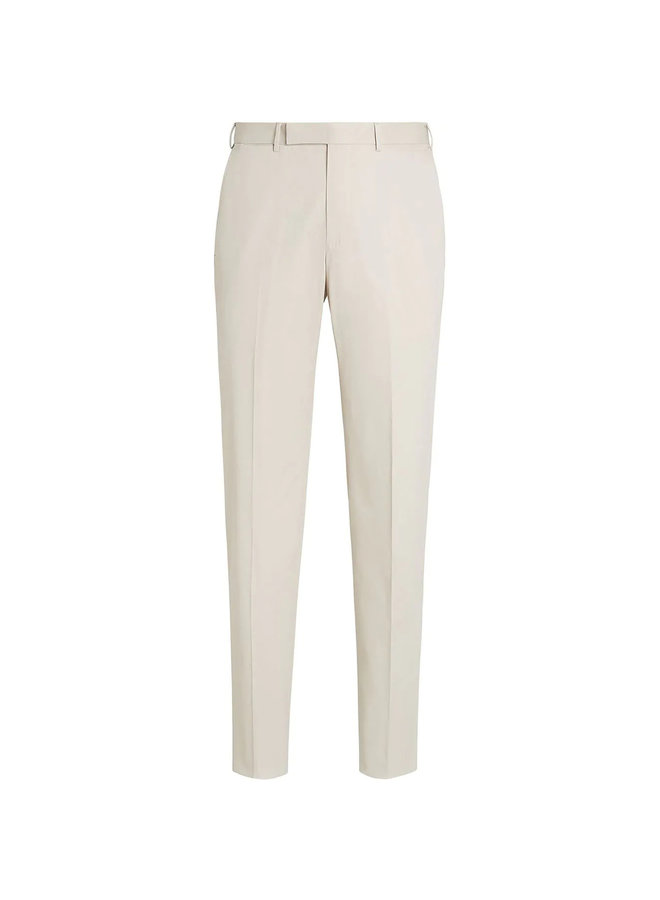 Ermenegildo Zegna Tailored Pants in Premium Cotton in Light Beige