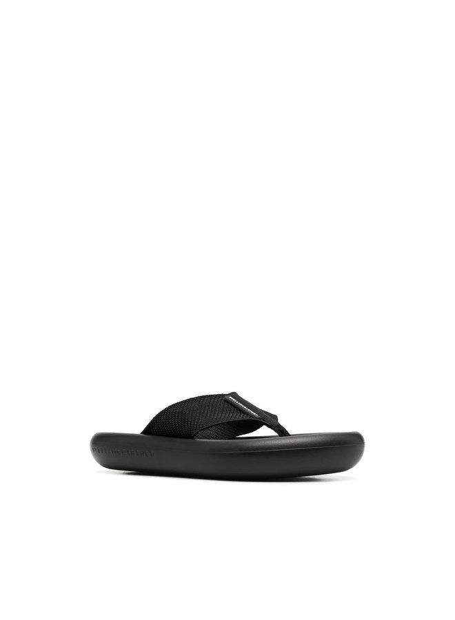 Platform Flip Flops in Black