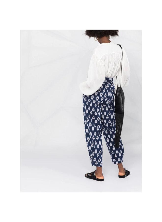 Long Sleeve Blouse in Cotton Silk in Ecru