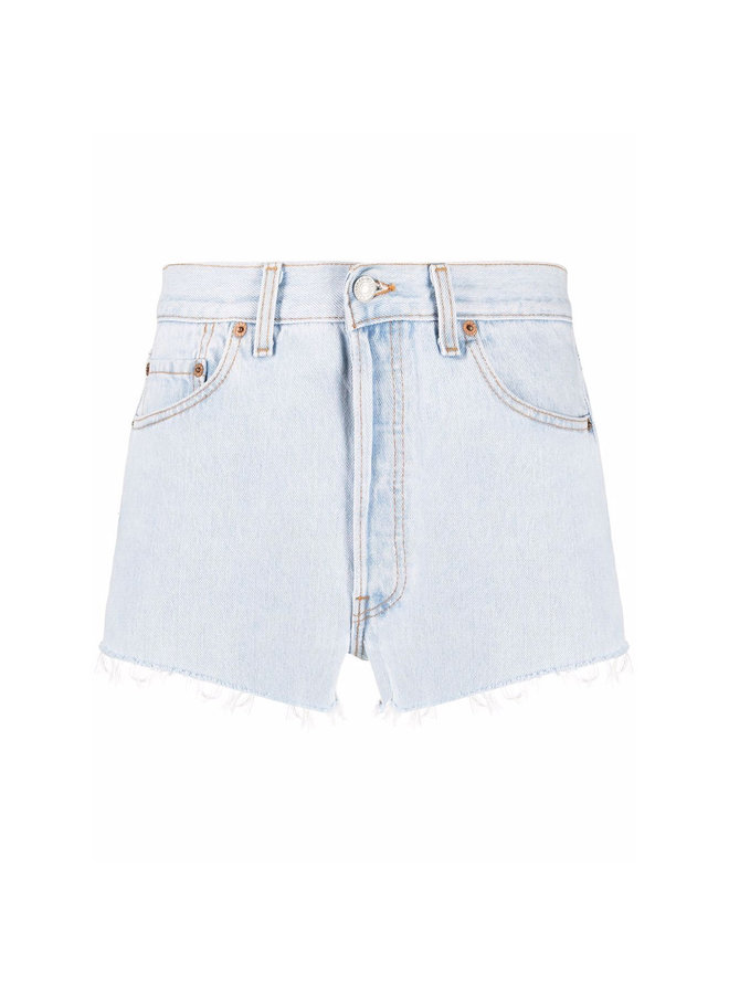 Shorts in Faded Denim