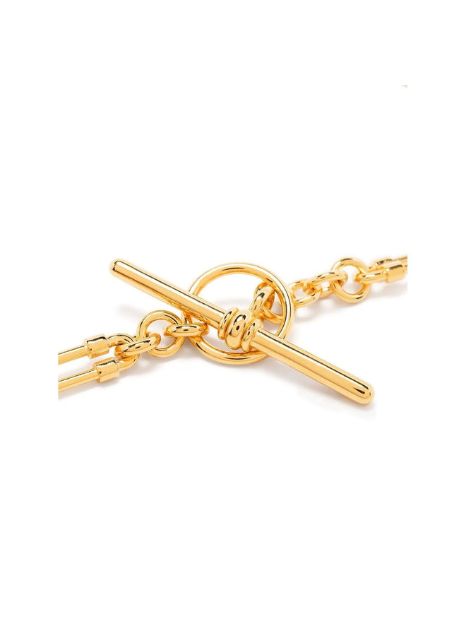 T-bar Chain Necklace in Gold