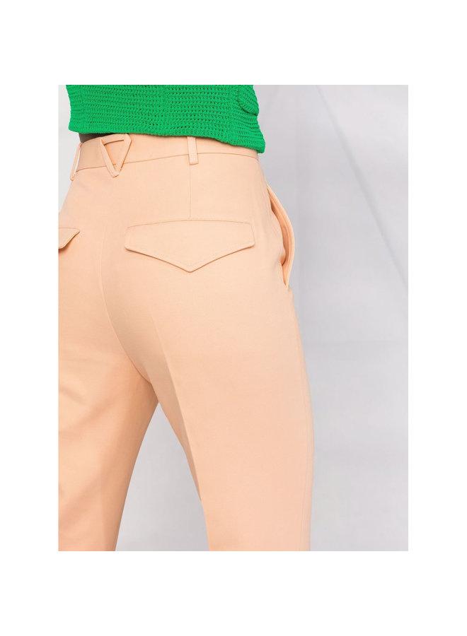 Straight Leg Pants in Cotton in Macaroon