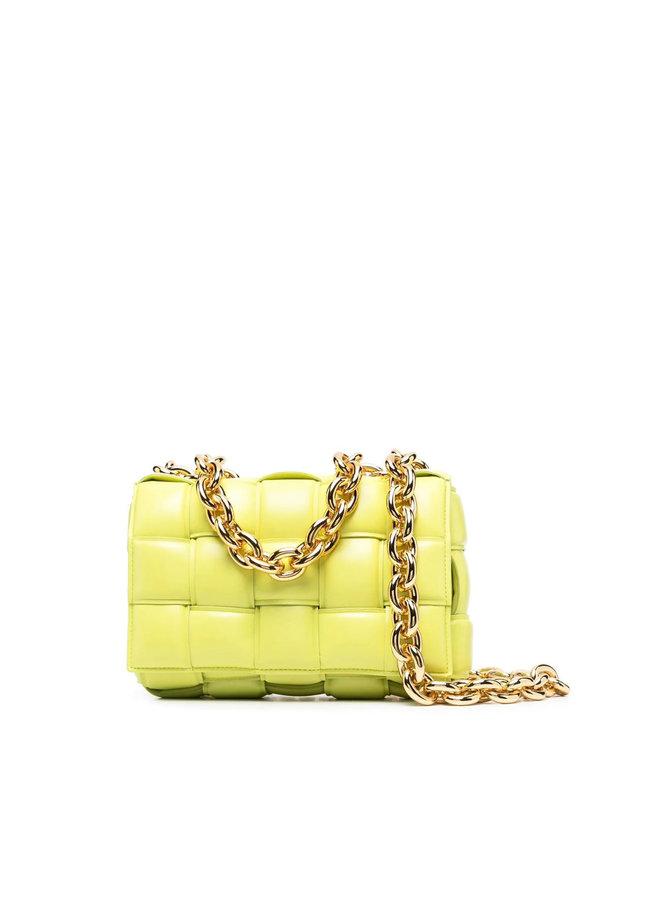 The Chain Cassette Padded Shoulder Bag