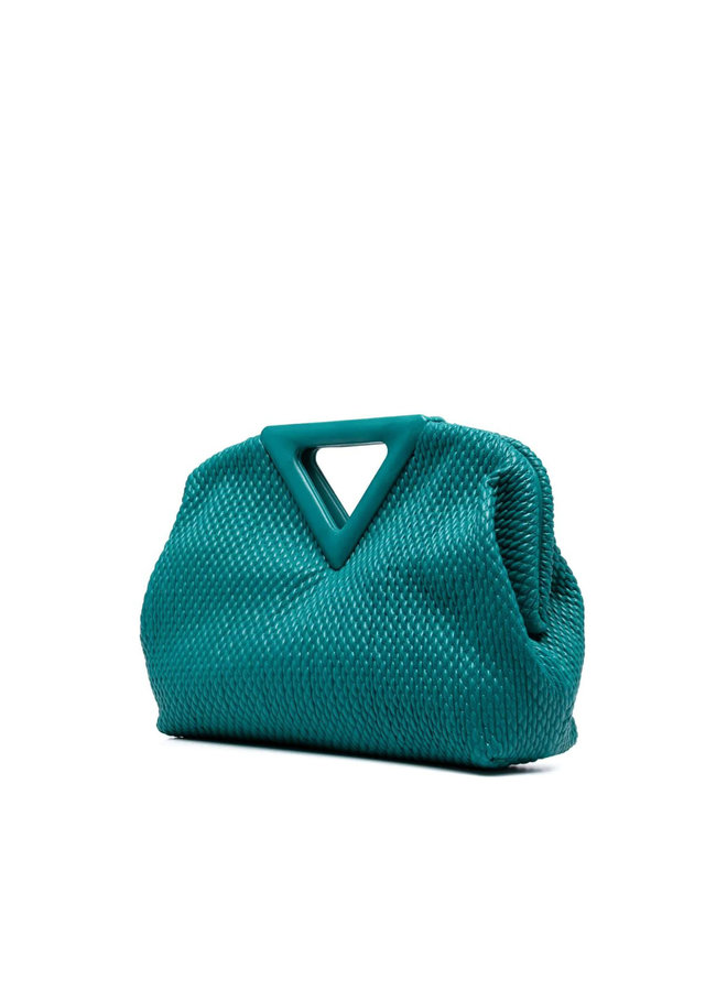 Triangle Large Shoulder Bag in Quilted Leather in Mallard