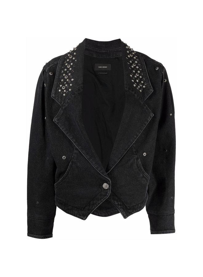 Star-Stud Denim Jacket