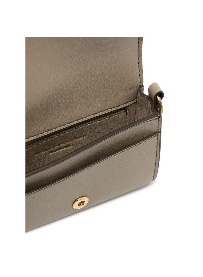 Mini Crossbody Card Holder Bag in Eco Leather in Bamboo