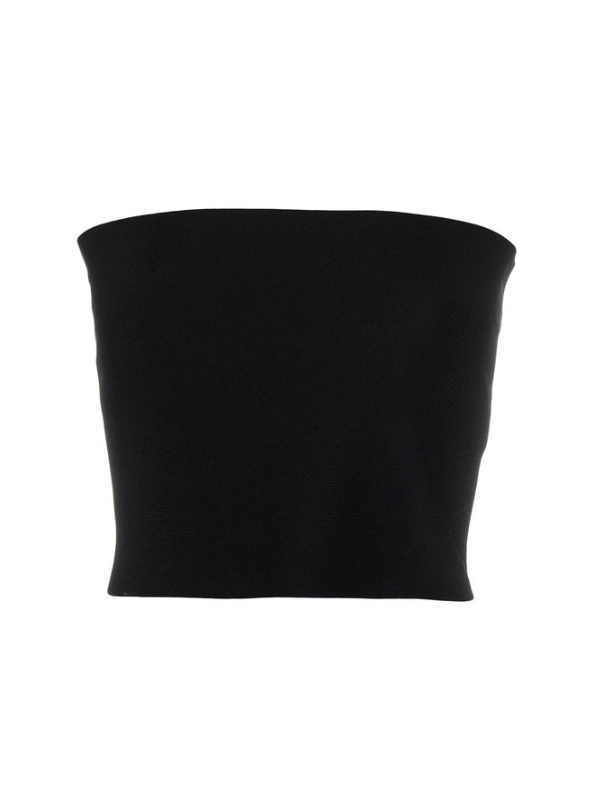 Cropped Strapless Knitted Top