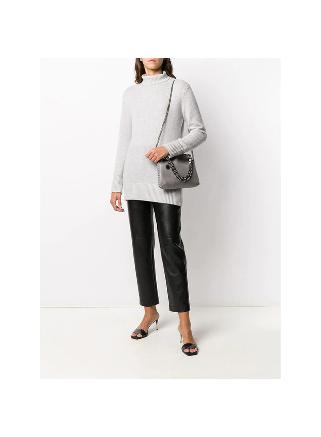 Falabella Mini Tote Crossbody Bag in Light Grey