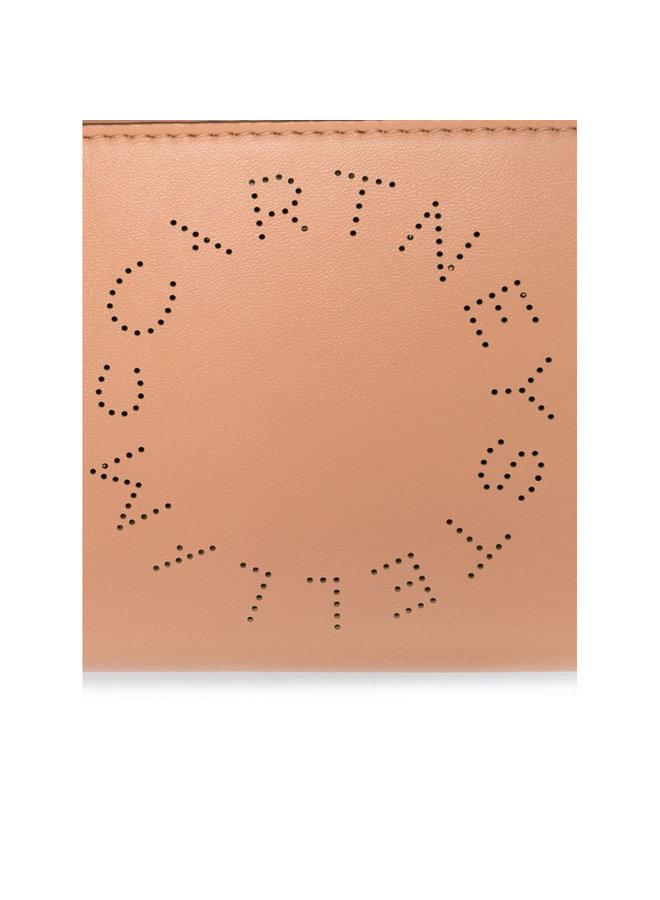 Mini Crossbody Logo Wallet Bag in Camel
