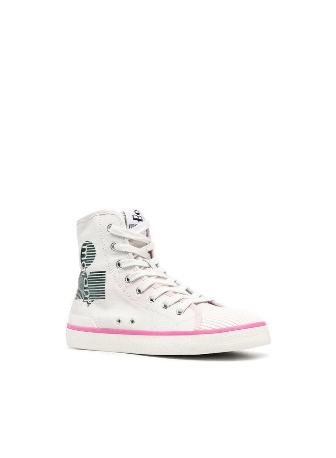 Benkeen High Top Logo Sneakers in Celadon