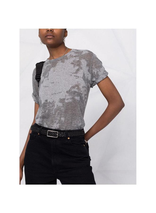 Logo T-Shirt in Cotton in Grey