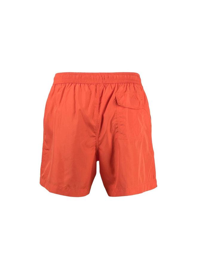 Z Zegna Logo Print Swim Shorts in Orange