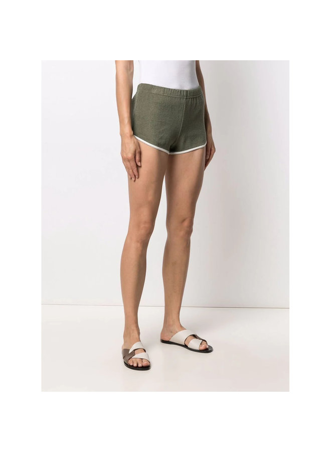 Mid-Rise Shorts in Cotton in Green