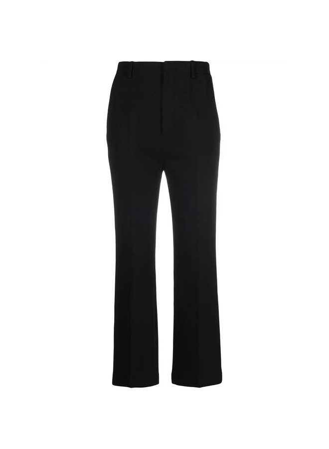 High Waisted Cropped Flared Pants