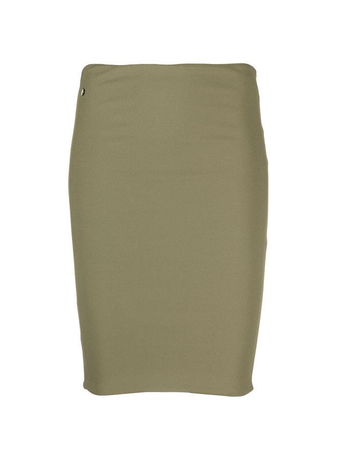 Ribbed Mini Skirt