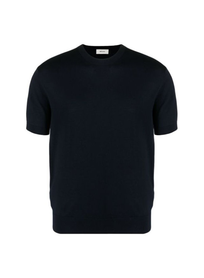 Z Zegna Crew-neck Knitted T-shirt