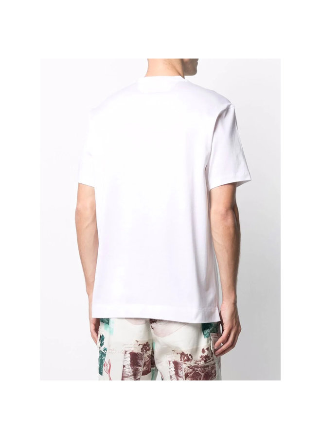 Z Zegna Graphic Print T-shirt in Cotton in White