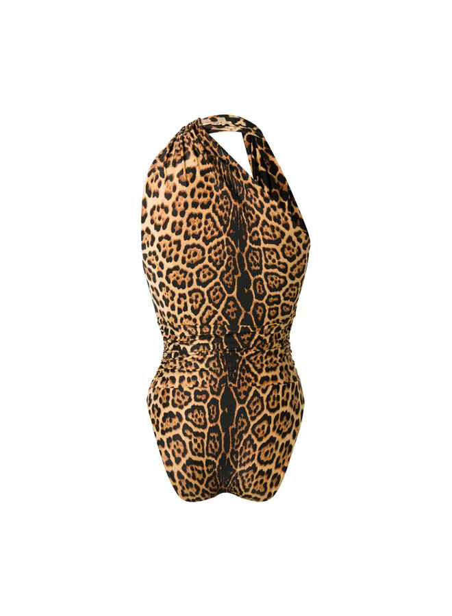 One Piece Swimsuit in Leopard Print