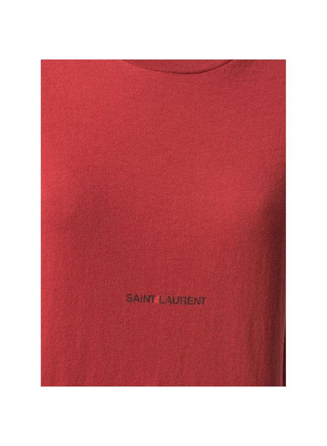 Logo T-shirt in Cotton in Terracotta