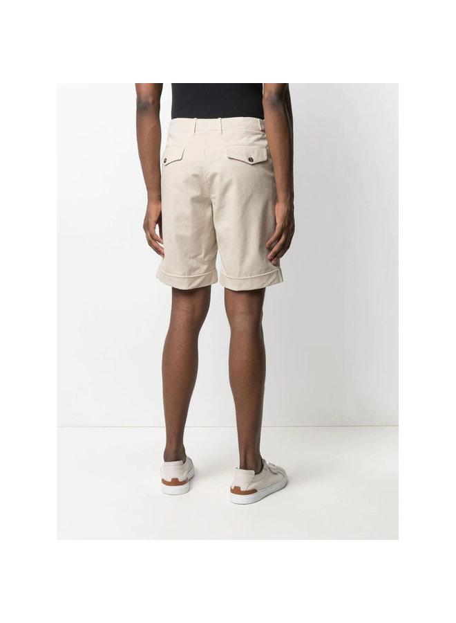 Z Zegna Knee Length Bermuda Shorts in Cotton in Beige