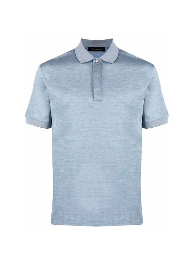 Ermenegildo Zegna Classic Polo T-Shirt in Cotton in Teal