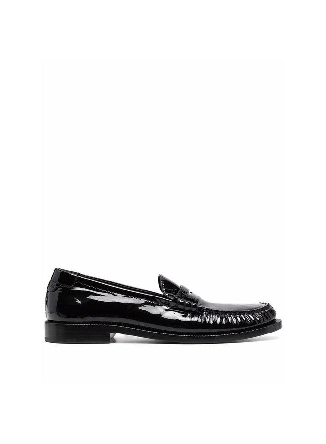 Flat Loafers Heel in Black
