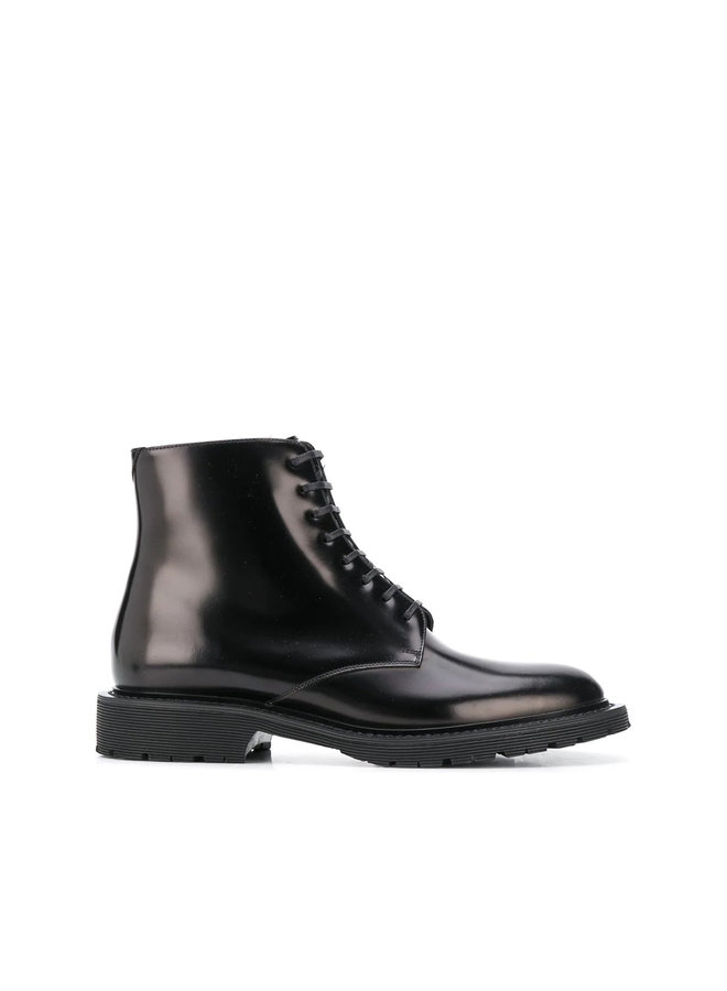 Army Flat Boots in Black