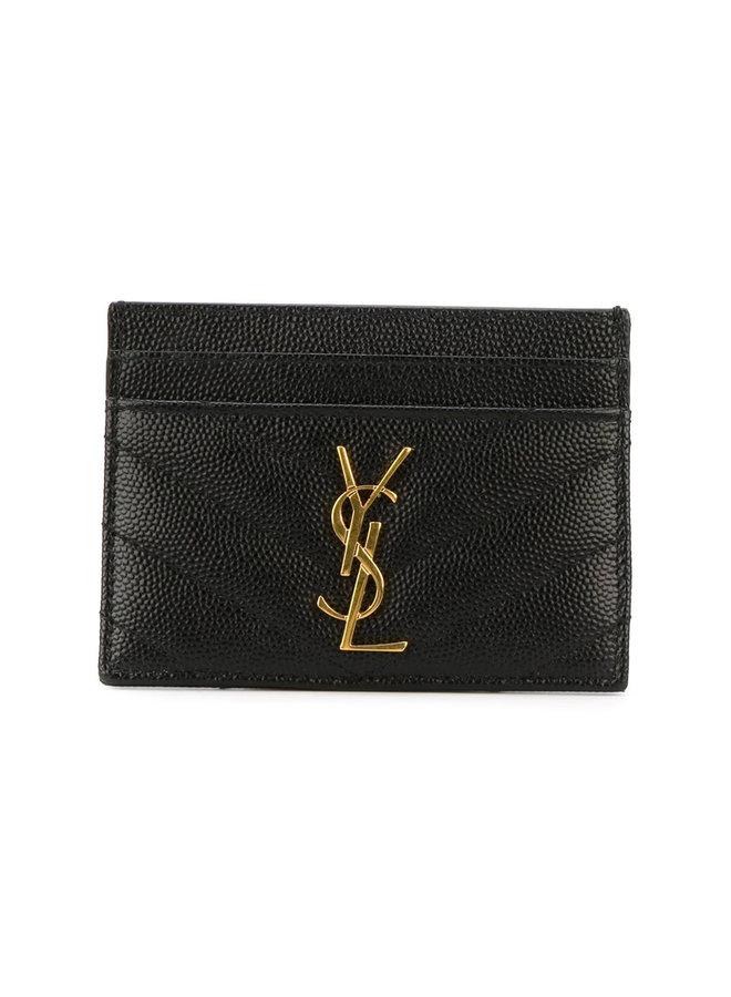 Monogram CC Holder in Black/Gold
