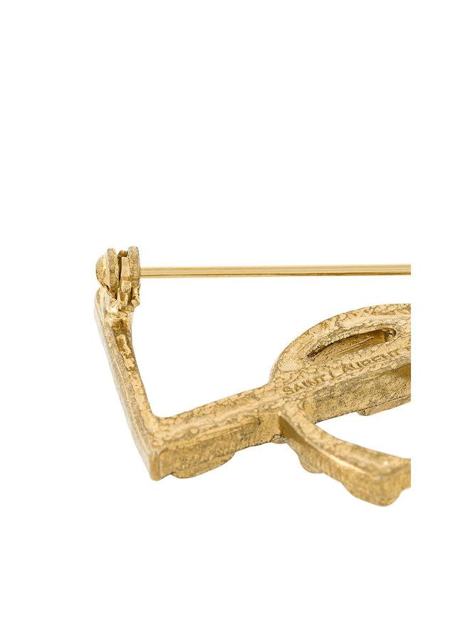 Monogram Broach in Gold