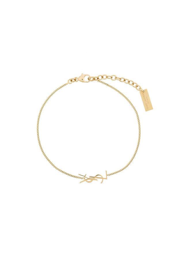Monogram Chain Bracelet in Gold