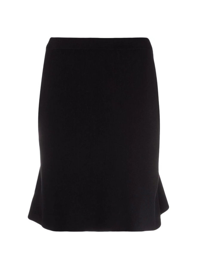 Knitted Mini Skirt in Black