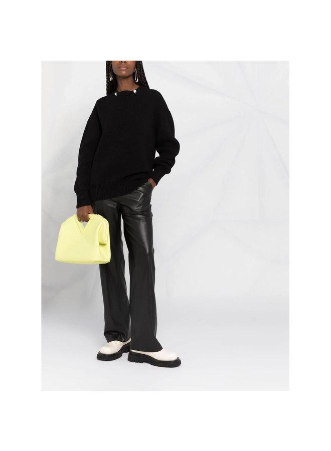 Embellished Knitted Jumper in Black