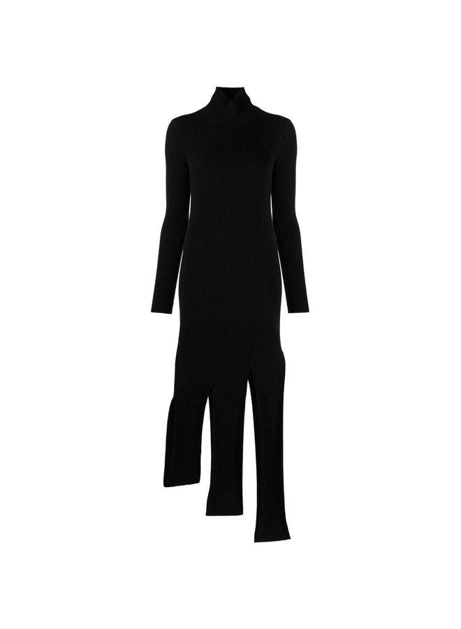 Asymmetric Knitted Dress